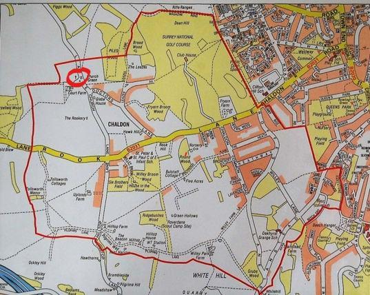 Chaldon Church Map